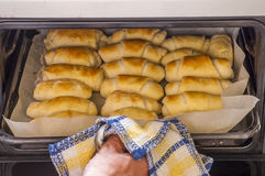 Salty butter roll bread Royalty Free Stock Image
