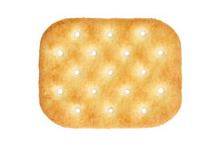 Salty cracker. A salty cracker isolated on white Stock Image
