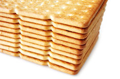 Salty cracker isolated Royalty Free Stock Photography