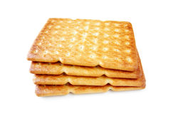 Salty cracker isolated on white Stock Photography