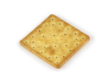 Salty cracker isolated on white background Stock Photos