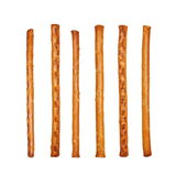 Salty cracker pretzel sticks isolated on white. Set salty cracker pretzel sticks isolated on white background Royalty Free Stock Photography