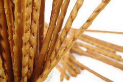 Salty cracker pretzel sticks Royalty Free Stock Image