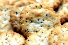Salty crackers 2 Royalty Free Stock Photography