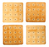 Salty crackers. Isolated on white background Stock Images