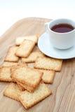 Salty Crackers Stock Photo