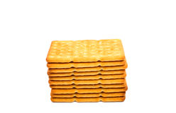 Salty crackers Stock Image