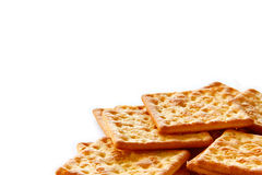 Salty Crackers are on white background. Stock Image