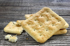 Salty crackers Royalty Free Stock Image