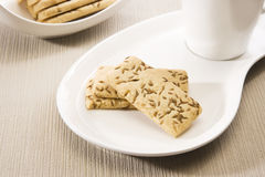 Salty Cumin Cookies Royalty Free Stock Photos