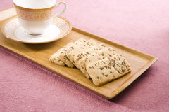 Salty Cumin Cookies Royalty Free Stock Photography