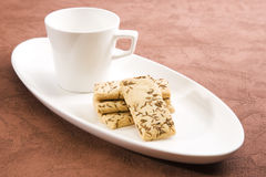Salty Cumin Cookies Stock Photography