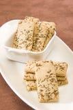 Salty Cumin Cookies Stock Photos