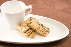 Salty Cumin Cookies Royalty Free Stock Images