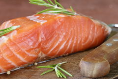 Salty delicacy red salmon fish Royalty Free Stock Photo