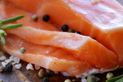 Salty delicacy red salmon fish Royalty Free Stock Photos