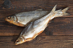 Salty dry fishes Stock Photography