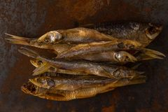 Salty dry river fish Stock Photography