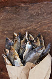 Salty dry river fish Royalty Free Stock Photos