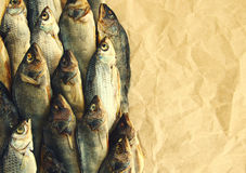 Salty dry river fish Stock Photo