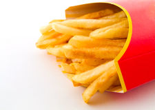 Salty Greasy French Fries Royalty Free Stock Photos