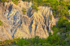 Salty hills in Buzau county Royalty Free Stock Photos