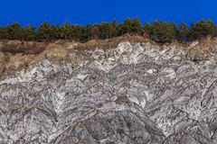 Salty hills. In summer at Lopatari Buzau county Romania Stock Photography
