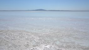 Salty lake Asale in the Danakil depression in Ethiopia, Africa. stock footage