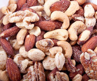 Salty Mixed Nuts Royalty Free Stock Photo
