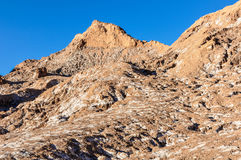 Salty mountains in the Atacama Desert, Chile Stock Image