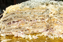 Salty pancake cake Stock Photography