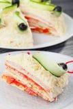 Salty pancake cake Stock Image