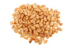 Salty peanuts isolated on white Royalty Free Stock Images