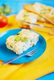 Salty pie with cheese and cottage cheese royalty free stock photos