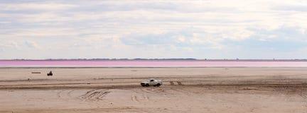 Salty pink lake Royalty Free Stock Photography