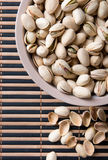 Salty pistachio. On the table close up Stock Image
