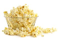Salty popcorn. Fine addition to rest at a cinema Stock Photography