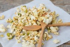 Salty popcorn and green tea popcorn Stock Photography