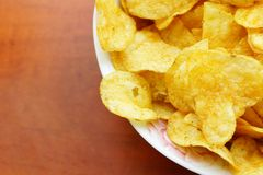 Salty Potato Chips Stock Images