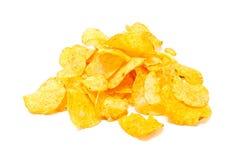 Salty potato chips Stock Photo