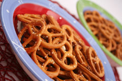 Salty pretzel cookies Royalty Free Stock Image