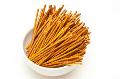 Salty pretzel sticks Stock Image
