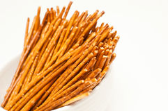 Salty pretzel sticks Royalty Free Stock Photo