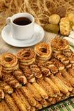 Salty pretzel sticks Stock Photography