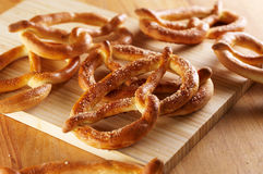 Salty pretzels Stock Image