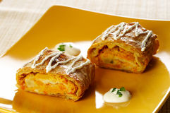Salty pumpkin strudel Royalty Free Stock Images