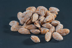 Salty Roasted Almonds in the Clip royalty free stock photos