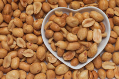 Salty roasted peanuts Royalty Free Stock Images