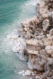 Salty Rock Formation Royalty Free Stock Photo