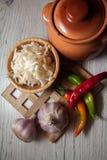 Salty sauerkraut recipe Stock Photos